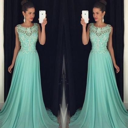 15653e6a8 Chic Long Prom Dress - Square A-Line Backless With Embroidery on Luulla