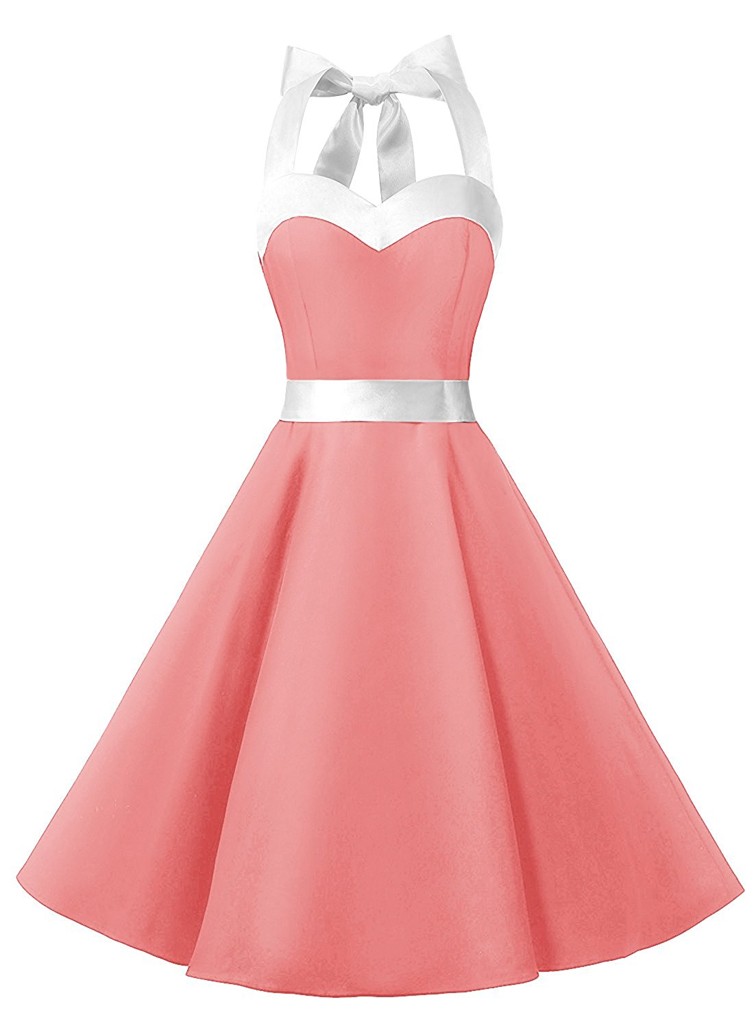 50s fashion rockabilly style halter pink vintage party dress on luulla Style me pink fashion show